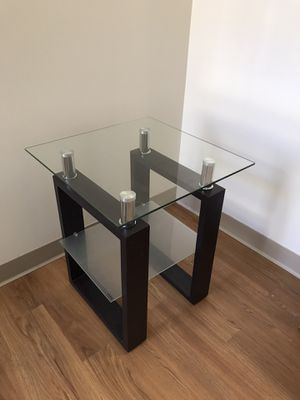 Glass side table for Sale in Cambridge, MA