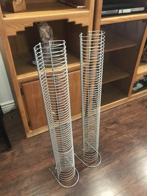 2 CD holders, metal for Sale in Mesa, AZ