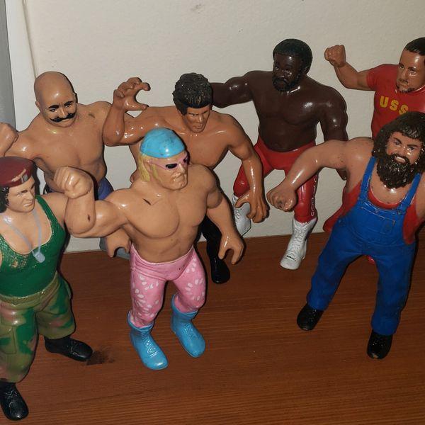 1980s LJN WWF figures for sale Hulk hogan Ultimate Warrior Different prices