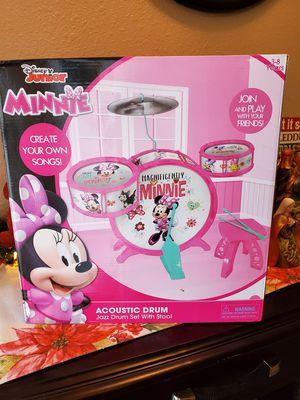 Minnie Mouse Acoustic Drum set for Sale in El Paso, TX