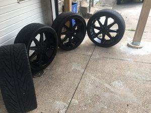 Black 26 inch Dubb Rims for Sale in Philadelphia, PA
