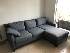 Sectional sofa charcoal gray for Sale in Miami, FL