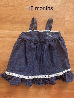 Baby girl jeans dress by Calvin Klein, size 18 months, summer kids clothes for Sale in Surprise, AZ