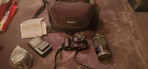 *price reduced!!* Sony a5000 digital camera/HD video camera + 55-210mm Sony Lens + 16-50mm Sony Lens, bag + MORE! for Sale in St. Petersburg, FL