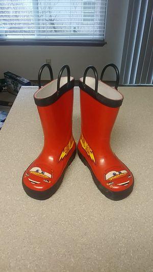 Lightning McQueen kids rain boots Size 8 for Sale in Gresham, OR