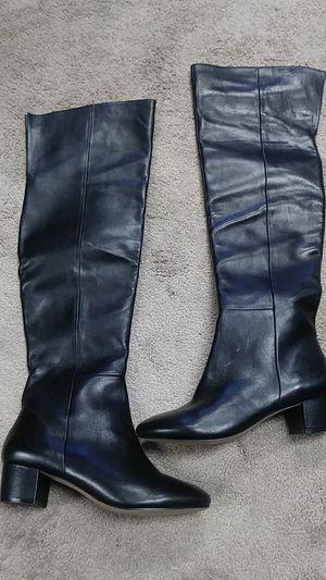 Aldo Black leather like riding boots Sz 8.5 for Sale in Atlanta, GA