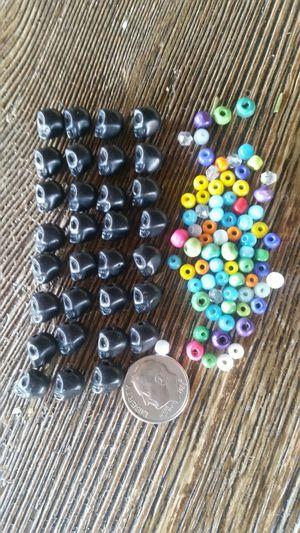 Mini black skull beads for Sale in Fontana, CA