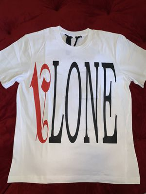 Vlone x palm angels red on white Tee Medium for Sale in Fort Lauderdale, FL