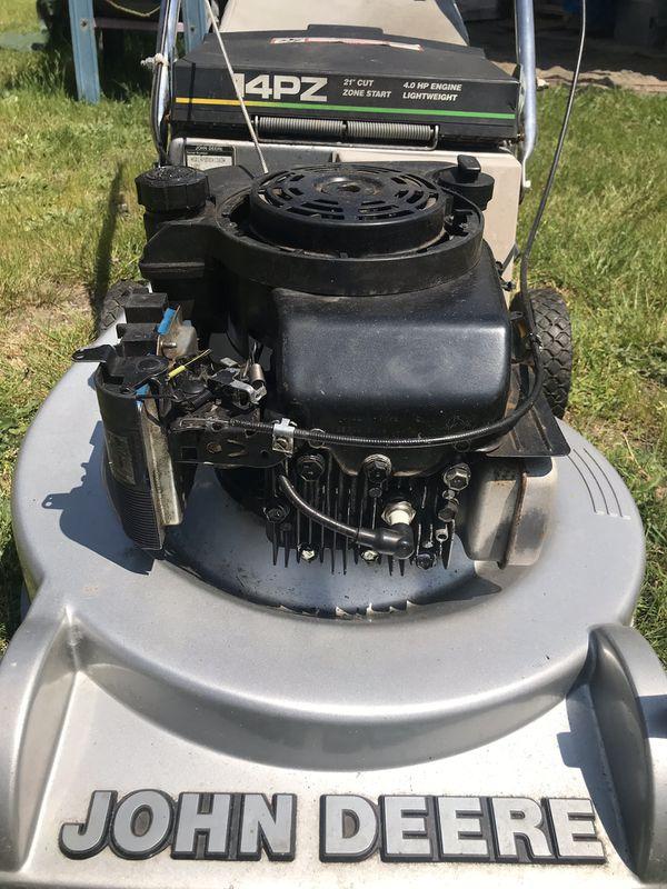 Lawn Mower Cut Garden Trim Grass John Deere Needs Little