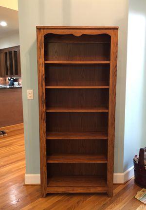 Two solid oak bookshelves $30 each/$50 both for Sale in Boca Raton, FL
