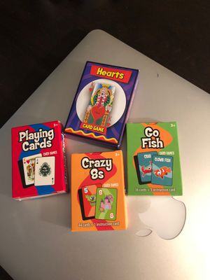 Never opened $4 kids card games for Sale in Bolingbrook, IL