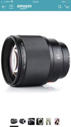 VILTROX 85mm f1.8 Fuji x Mount Lens AF Auto Lens Portrait Fixed Focus Lens for Fujifilm Fuji X Mount Camera X-T3 X-T2 X-T30 X-T20 X-T10 X-T100 X-PRO2 for Sale in San Leandro, CA
