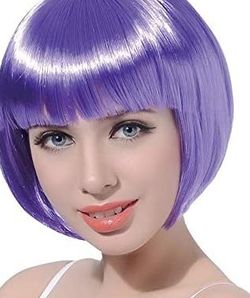 "10"" Short Straight Cosplay Bob Wig Synthetic Hair for Sale in Fresno,  CA"