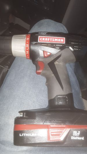 19.2 volt craftsman cordless drill with charger for Sale in Lake Charles, LA