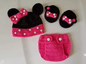 Crochet Baby Girl Minnie Mouse Outfit for Sale in Plant City, FL