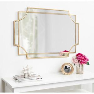 New Kate and Laurel Minuette Decorative Rectangle Frame Wall Mirror in Gold Leaf, 24x35.5 Inches for Sale in Doral, FL