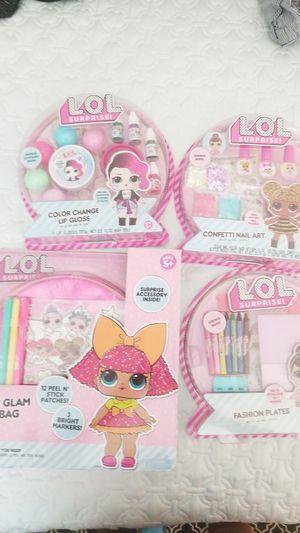 Huge lot of LOL craft kit supplies glam spa lot Lip gloss confetti nail art fashion plates purse for Sale in Gilbert, AZ