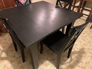 Dark brown dining room table and 4 chairs for Sale in La Honda, CA