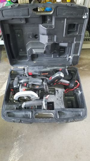 Craftsman 19.2 power tools and case for Sale in Santa Ana, CA