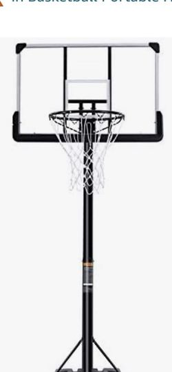 Portable Basketball Hoop & Goal Basketball System Basketball Equipment Height Adjustable 7ft 6in-10ft with 44 Inch Backboard Worth $190 for Sale in Garden Grove,  CA