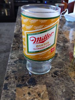 Vintage Miller High Life The Champagne Of Beers Oversize Beer Glass for Sale in Neenah,  WI