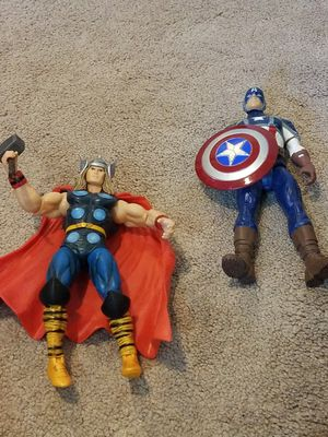 Avengers Thor and Captain America action figures for Sale in Linthicum Heights, MD