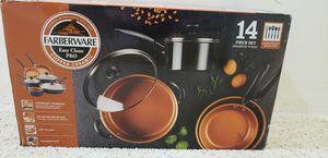 Farberware Easy Clean Pro 14pc Copper Ceramic Nonstick Cookware Set for Sale in Bristow, VA