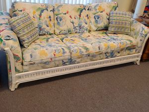 Wicker Frame Couch for Sale in Sewell, NJ