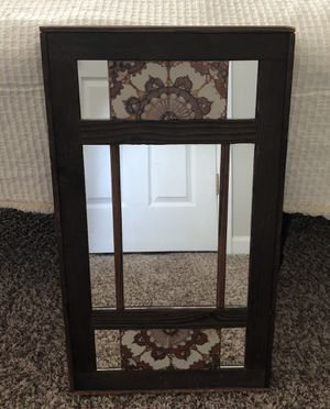 Brown Real Wood Wall Mirror for Sale in Knightdale, NC