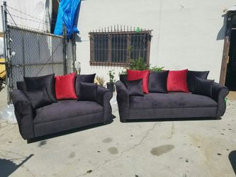 NEW JEAGUAR BLACK FABRIC COUCHES for Sale in Los Angeles,  CA
