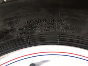 One ST trailer tire 235x75-16 14 ply with 8 lugs rim $150 for Sale in San Bernardino, CA