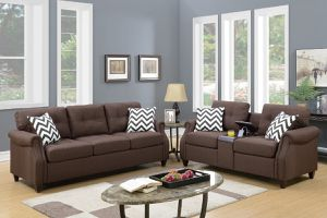 2 PC SOFA SET WITH USB port for Sale in Corona, CA