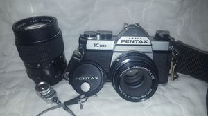 Asahi Pentax K1000 camera and lens bundle for Sale in Fairfax, VA