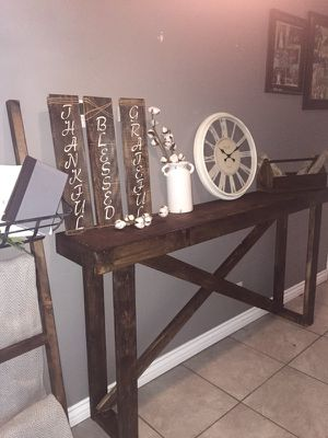 Handmade entry table with matching blanket ladder for Sale in Victorville, CA