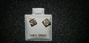 14k diamond diamond earrings for Sale in Bell, CA