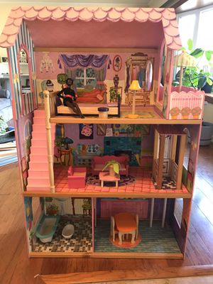 Large wooden dollhouse for Sale in Silver Spring, MD