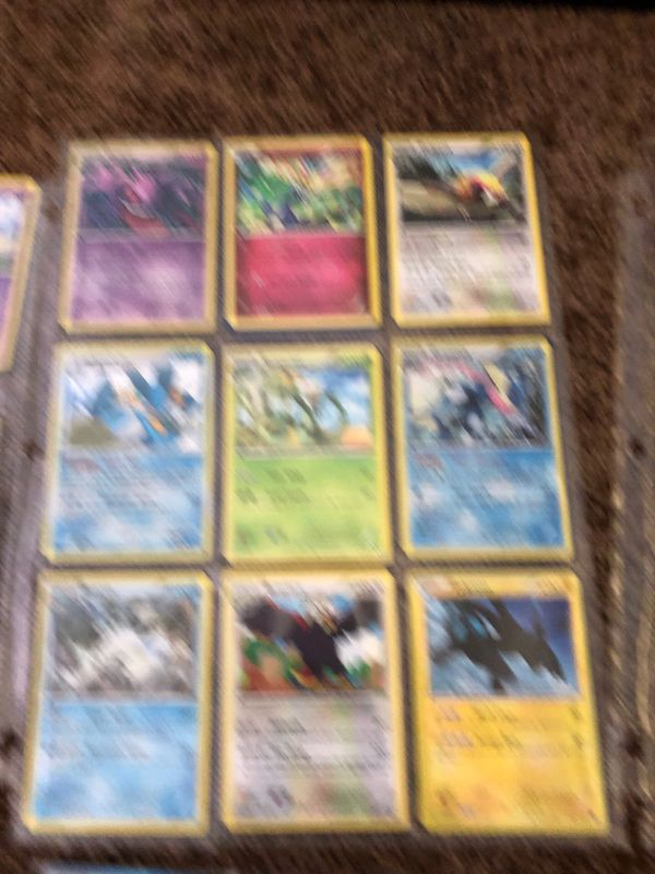 80, 100 hp to 160 hp Pokémon cards including a giant MEGA EX with 220 hp in perfect condition