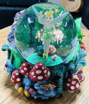 Disney's Tinkerbell Pixie Dust Lighted Musical Snow Globe - Peter Pan for Sale in Hickory Hills, IL