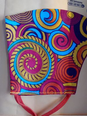 Beautiful African design fabric mask for Sale in West Columbia, SC