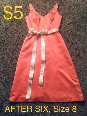 AFTER SIX, Adorable Salmon Satin Dress, Size 8 for Sale in Phoenix, AZ