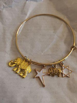 Custom Handmade elephant charm gold plated bracelet for Sale in Westgate, NY