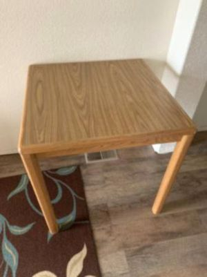 Large square kitchen nook or shop table, brown top for Sale in Mott, ND