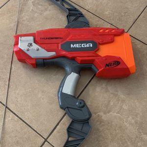 Thunderbow Nerf gun with mega bullets for Sale in Corona, CA
