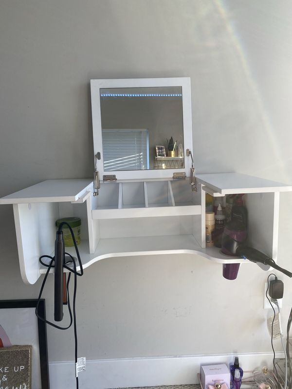 Wall Mount Vanity with Mirror