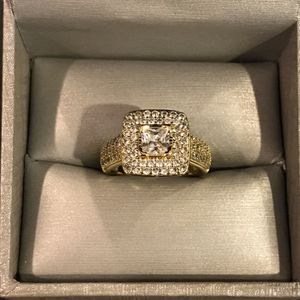 18K Gold plated Engagement/Wedding Ring - Code JL67 for Sale in Dallas, TX