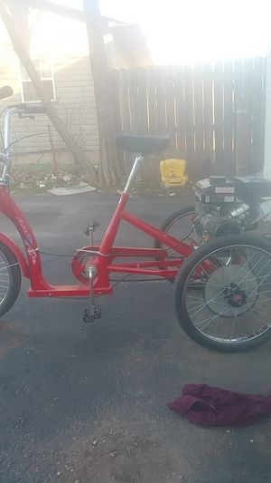 Three wheeled bicycle with a three and a half horsepower motor for Sale in Lawton, OK