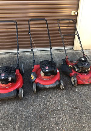 (3) Briggs & Stratton Just Serviced Lawn Mowers 30'Day warranty for Sale in Houston, TX