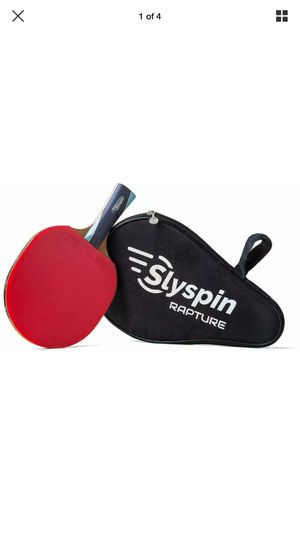 2 Slyspin Rapture Professional Table Tennis Racket Ping Pong Paddle w Storage Bag for Sale in Miami Beach, FL