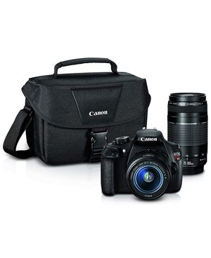 Canon EOS Rebel T5 bundle 18-55mm and 75-300 mm lens for Sale in Arlington, VA