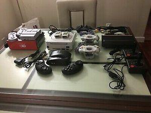 Sega Genesis sega saturn Atari play station one super Nintendo Nintendo 64 with controllers for Sale in Detroit, MI